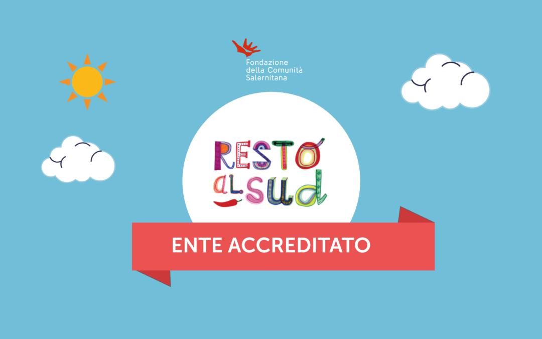 Fondazione della Comunità Salernitana, ente accreditato di Resto al Sud
