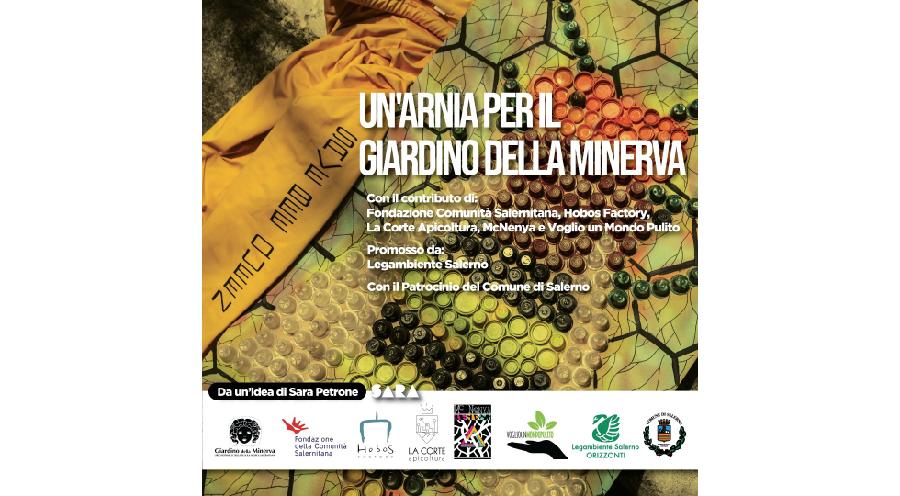 """L'iniziativa dal titolo """"save bee queen"""" ha lo scopo di donare al Giardino della Minerva un'arnia urbana."""